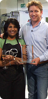 Gita Mistry with James Martin